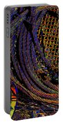 Abstract Textures Portable Battery Charger