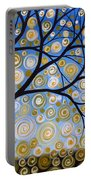 Abstract Tree Nature Original Painting Starry Starry By Amy Giacomelli Portable Battery Charger