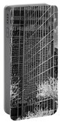 Abstract Walls Black And White Portable Battery Charger