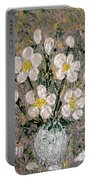Abstract Wild Roses Heavy Impasto Portable Battery Charger