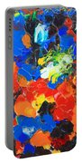 Acrylic Abstract Upon Wood Portable Battery Charger