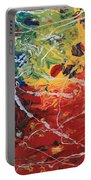 Acrylic  Poured  And  Dripped  2001 Portable Battery Charger