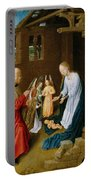 Adoration Of The Christ Child  Portable Battery Charger