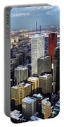 Aerial View From Cn Tower Toronto Ontario Canada Portable Battery Charger