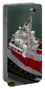 Aerial View Of Red Tug  Portable Battery Charger