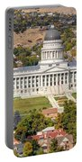 Aerial View Of Utah State Capitol Building Portable Battery Charger