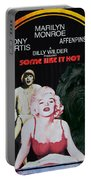 Affenpinscher Some Like It Hot Movie Poster Portable Battery Charger