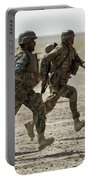 Afghan National Army Soldiers Run Portable Battery Charger
