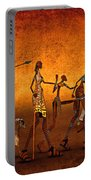 Africa Portable Battery Charger by Jutta Maria Pusl