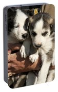 Alaskan Huskey Puppies Portable Battery Charger