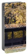 Alcove In The Autumn Park Portable Battery Charger