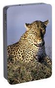Alert Female Leopard Portable Battery Charger