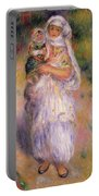 Algerian Woman And Child Portable Battery Charger by Pierre Auguste Renoir