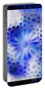 Alhambra Pattern Blue Portable Battery Charger