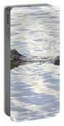 Alligator With Sky Reflections Portable Battery Charger