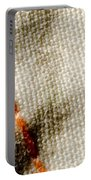 Amber Stitch Study Of Threads Up Close Portable Battery Charger