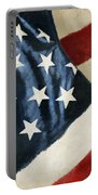 America Flag Portable Battery Charger