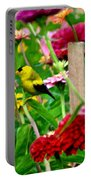 American Goldfinch In The Garden Portable Battery Charger