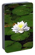 American White Waterlily Portable Battery Charger
