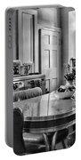 Americana - 1950 Kitchen - 1950s - Retro Kitchen Black And White Portable Battery Charger