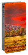 Amish Farm Sundown Portable Battery Charger by Randall Branham