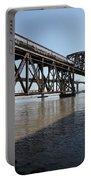 Amtrak Train Riding Atop The Benicia-martinez Train Bridge In California - 5d18830 Portable Battery Charger
