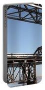 Amtrak Train Riding Atop The Benicia-martinez Train Bridge In California - 5d18835 Portable Battery Charger