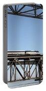 Amtrak Train Riding Atop The Benicia-martinez Train Bridge In California - 5d18837 Portable Battery Charger