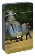 An Agusta A109 Helicopter Portable Battery Charger
