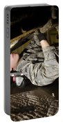 An Airman Inspects The Undercarriage Portable Battery Charger by Stocktrek Images