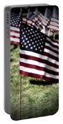 An American Flag Portable Battery Charger