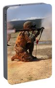 An Assaultman Fires A Rocket Propelled Portable Battery Charger