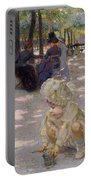 An August Afternoon At The Luxembourg Portable Battery Charger by Henri-edmond Cross