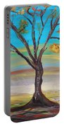 An Autumn Locust Tree Portable Battery Charger