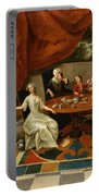 An Elegant Family Taking Tea  Portable Battery Charger by Gavin Hamilton