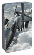 An F-15 E Strike Eagle Receives Fuel Portable Battery Charger