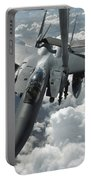 An F-15 E Strike Eagle Receives Fuel Portable Battery Charger by Stocktrek Images