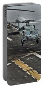 An Mh-60s Sea Hawk Lands Aboard Portable Battery Charger