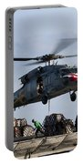 An Mh-60s Sea Hawk Lifts Cargo Portable Battery Charger