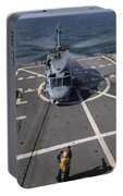 An Sh-60b Sea Hawk Lands On The Flight Portable Battery Charger