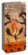 Ancient Lava Dragons Born Of Fire Portable Battery Charger