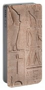 Ancient Stone Carvings, Karnak, Egypt Portable Battery Charger