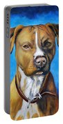 American Staffordshire Terrier Dog Painting Portable Battery Charger