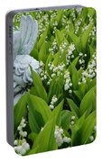 Angel In The Lilies Portable Battery Charger