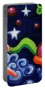 Angel Spinning Saturn Portable Battery Charger by Genevieve Esson