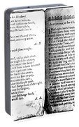 Anne Bradstreet Poems Portable Battery Charger