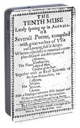 Anne Bradstreet Title-page Portable Battery Charger