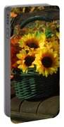 Antique Buggy And Sunflowers Portable Battery Charger
