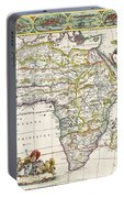 Antique Map Of Africa Portable Battery Charger