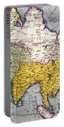 Antique Map Of Asia Portable Battery Charger